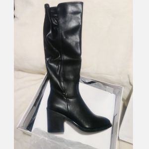 Olivia Miller Knee High Black Heel Boots size 10